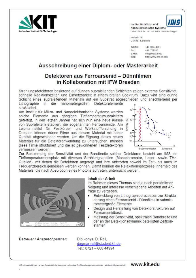 KIT - IMS - Mitarbeiter - Detektoren aus Ferroarsenid – Dünnfilmen ...
